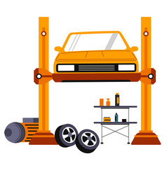 car maintenance and repairing center services vector image