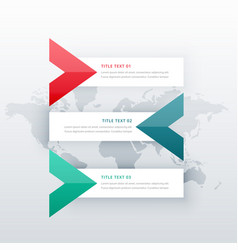 Clean three steps infographic options template vector