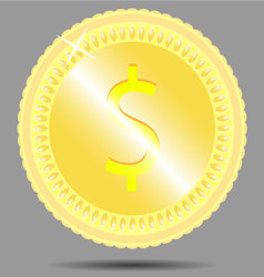Coin dollar vector image