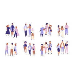 Collection of people talking or chattering to each vector