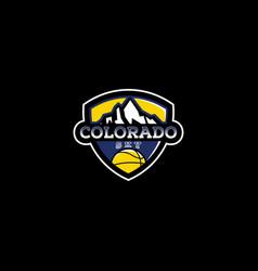 Colorado basketball logo design vector