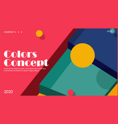 colorful futuristic background dynamic shapes vector image