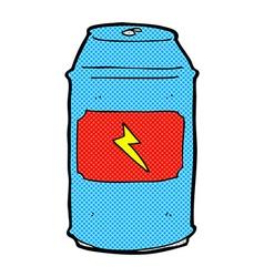 Comic cartoon beer can vector