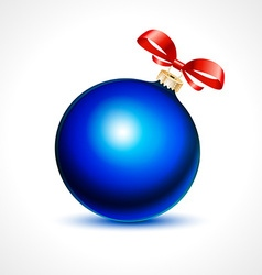 cool blue Christmas decoration vector image