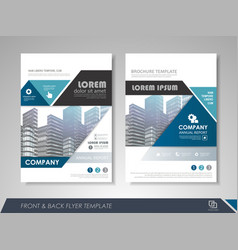 corporate and business brochure templates vector image