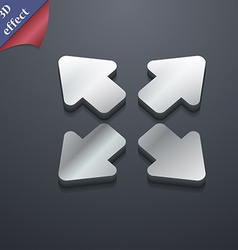 Deploying video screen size icon symbol 3D style vector