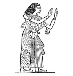 egyptian ancient statue is a female picture vector image