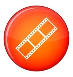 Film strip icon flat style vector