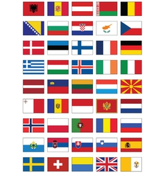 flag set all european countries vector image