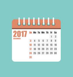 flat calendar year 2017 set vector image