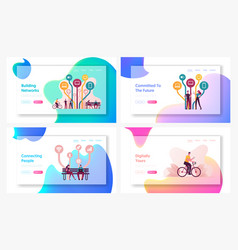 free internet services and applications landing vector image