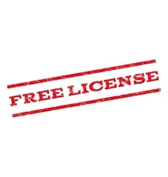 Free License Watermark Stamp vector image