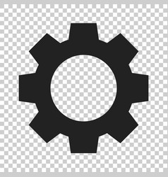 gear icon in flat style cog wheel on isolated vector image