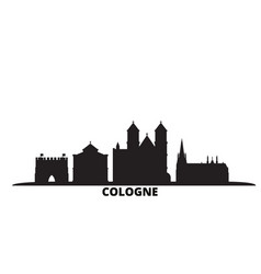 Germany cologne city skyline isolated vector