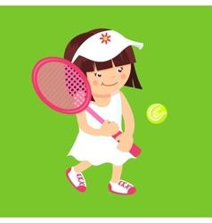 Girl with tennis racquet vector