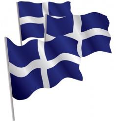 Greece flag vector image