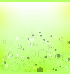 green technology background with particle vector image vector image