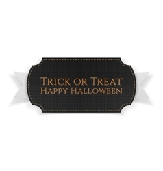 Halloween black greeting Card Template with Text vector