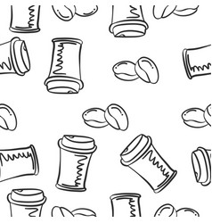 hand draw coffee of doodles vector image