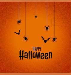 happy halloween festival background with bats and vector image