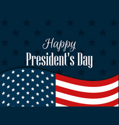 happy presidents day festive banner with american vector image