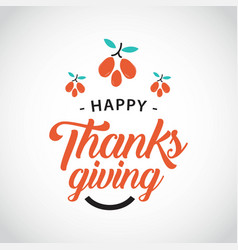 happy thanks giving template design vector image