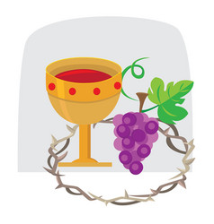 Holy week last supper of jesus christ thursday vector