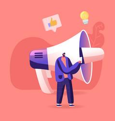 Hype blogging or social media networking concept vector