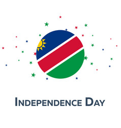independence day of namibia patriotic banner vector image