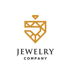 j for jewelry logo vector image