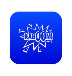 kaboom explosion icon digital blue vector image