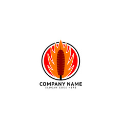 Kebab logo template design vector