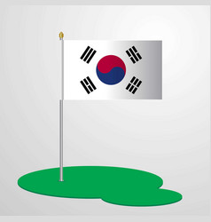 Korea south flag pole vector