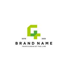 Letter g cross plus hospital medical logo design vector