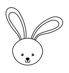 Line icon rabbit cartoon vector
