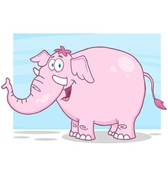 Little fat pink elephant vector image