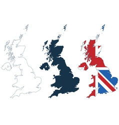 Map united kingdom vector