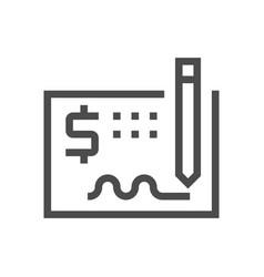 Money check icon vector