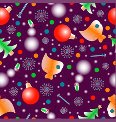 New year pattern seamless-2 vector