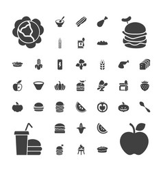 Nutrition icons vector