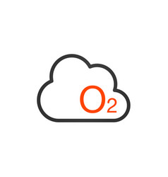 o2 icon - oxygen sign symbol nature isolated on vector image