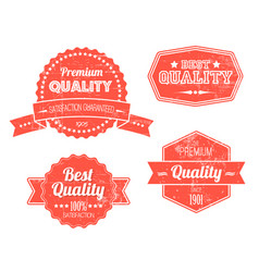 old red retro vintage grunge labels vector image