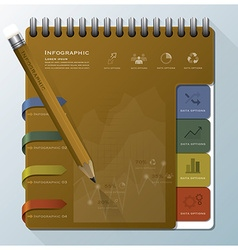 Organize Notebook Business Infographic Design vector image