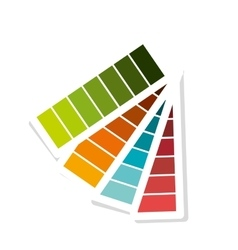 Pantone colors isolated flat design vector