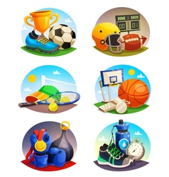 Pictures Collection Of Sport Inventory vector image