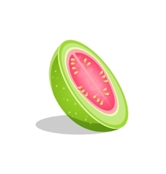 Pink Guava Fruit Cut In Half Bright Icon vector image