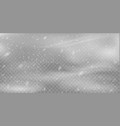 realistic blizzard background christmas snowfall vector image