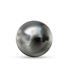 realistic glossy steel ball with glares and vector image
