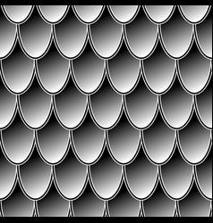 seamless pattern gray chain mail dragon scales vector image