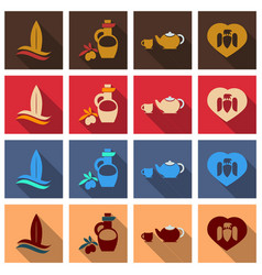 Set of images on the theme of ancient greece vector